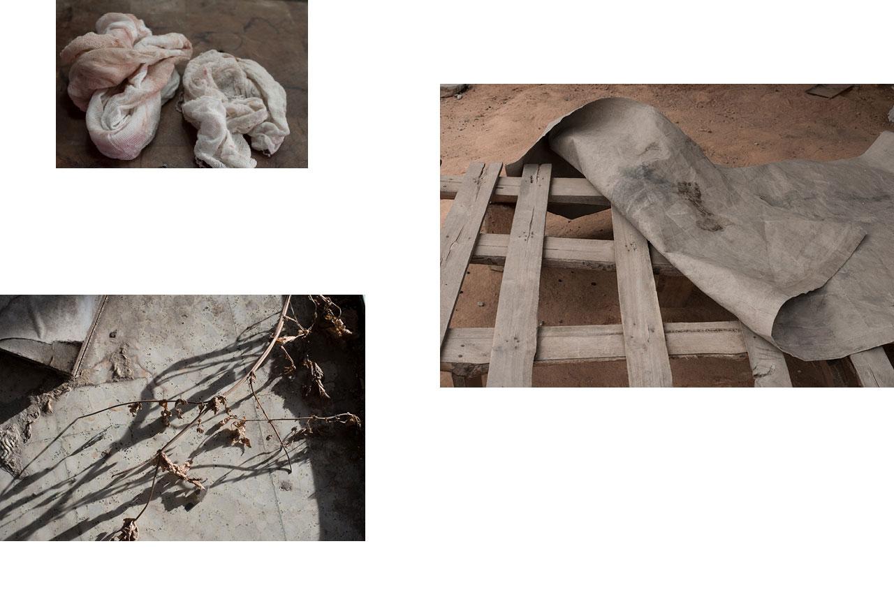 Athènes : marché des bouchers, sang. — Lomé, Togo : dans la rue, bâche sur palette, matelas de fortune. — Tarnos : zone industrielle, bureaux abandonnés.