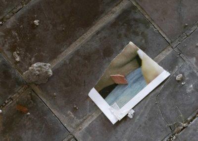 Sarajevo: fragment d'image, hôtel abandonné.