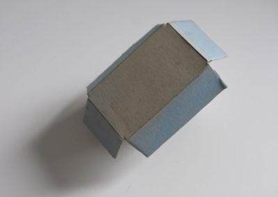 Boîte: carton, bleu, boîte, rebut.