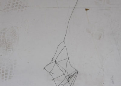 Cage: fil de fer, sculpture, légèreté, ready-made, rebut.