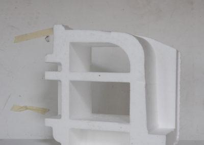 Forme: polystyrène, emballage, rebut, lettre A.