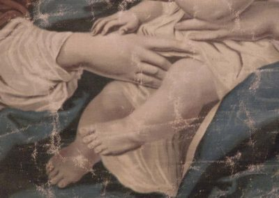 Venise: reproduction tableau école italienne, usure.